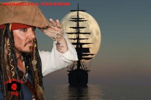 silhoette ship